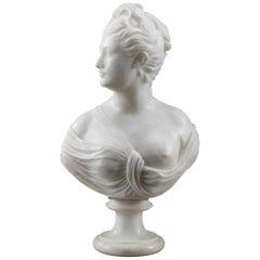 Mythological Alabaster Bust Diana