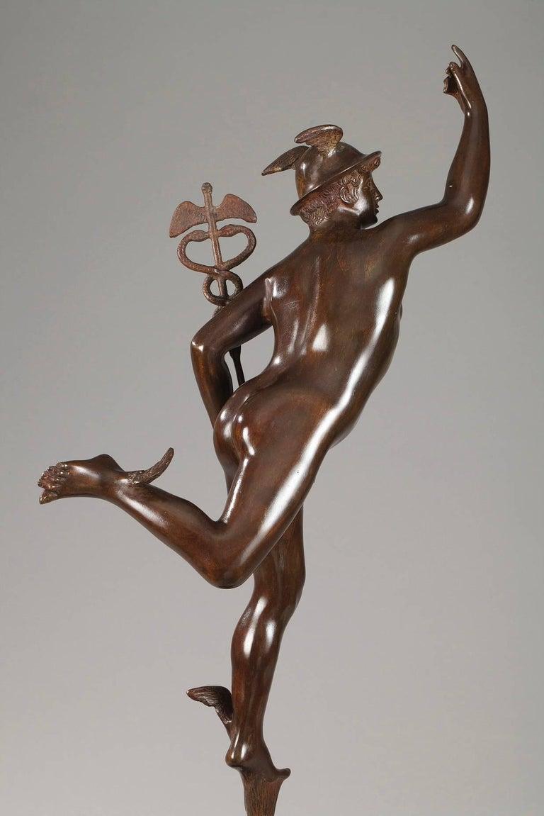 Renaissance Mythological Bronze Mercury after Giambologna