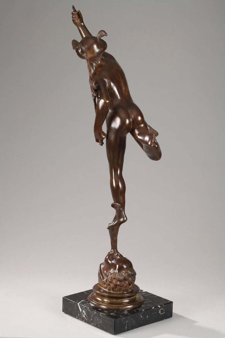 Italian Mythological Bronze Mercury after Giambologna