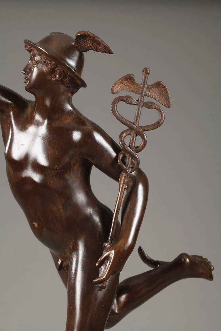 Mythological Bronze Mercury after Giambologna In Good Condition In Paris, FR