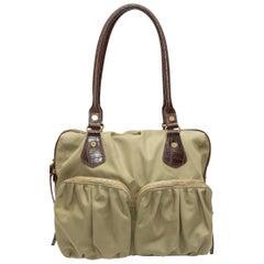 MZ Wallace Khaki Nylon Pocket Tote Bag