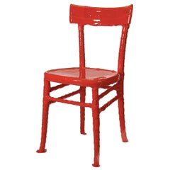 N. 15/20 One-Off solid red resin chair by Paola Navone
