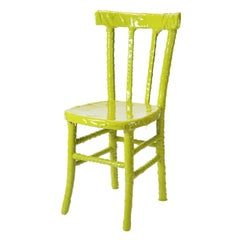 N. 17/20 One-Off Bright Yellow Resin Chair by Paola Navone