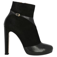 N 21 Woman Ankle boots Black Leather IT 38