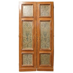 N. 6 Antique Double Doors, Lacquered and Painted, 19th Century, Italy