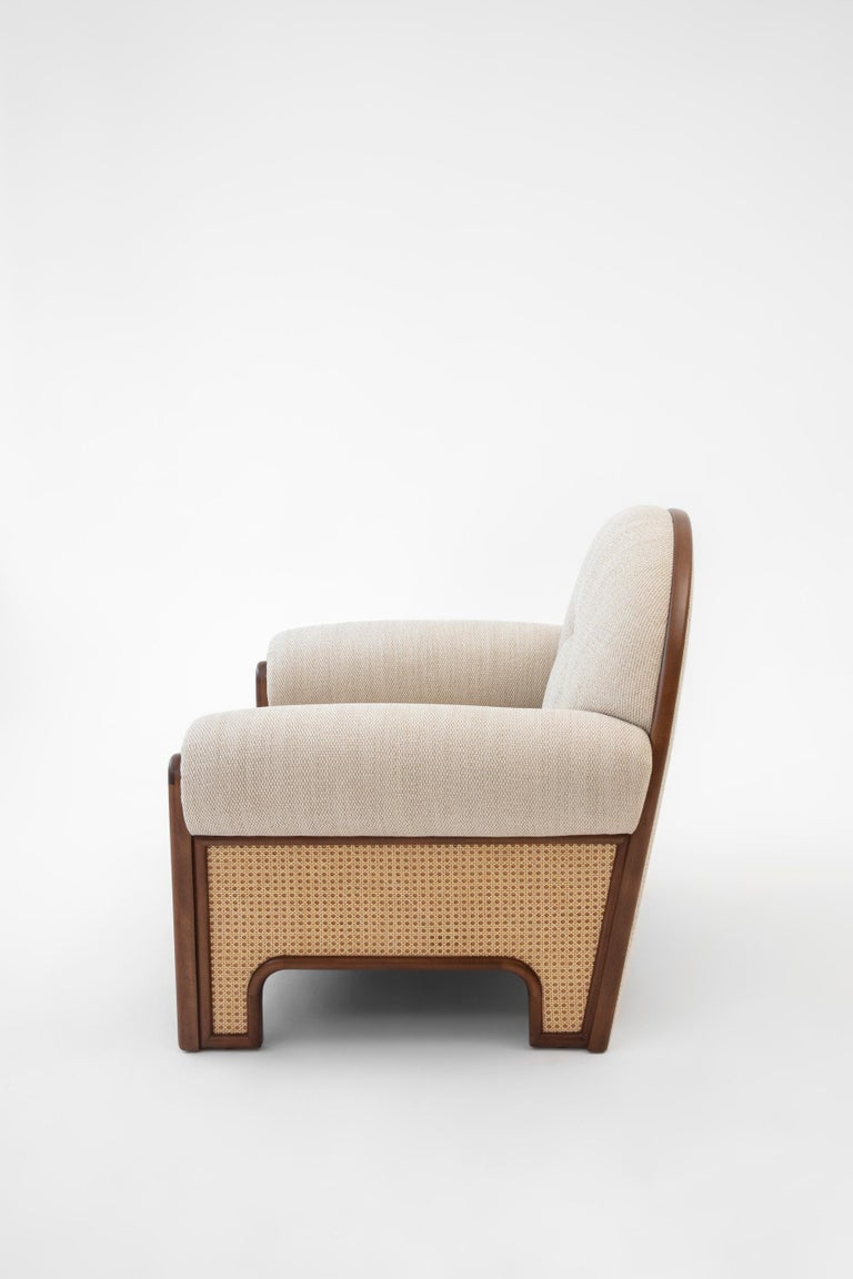 Arts and Crafts N-Gene Armchair Beige For Sale