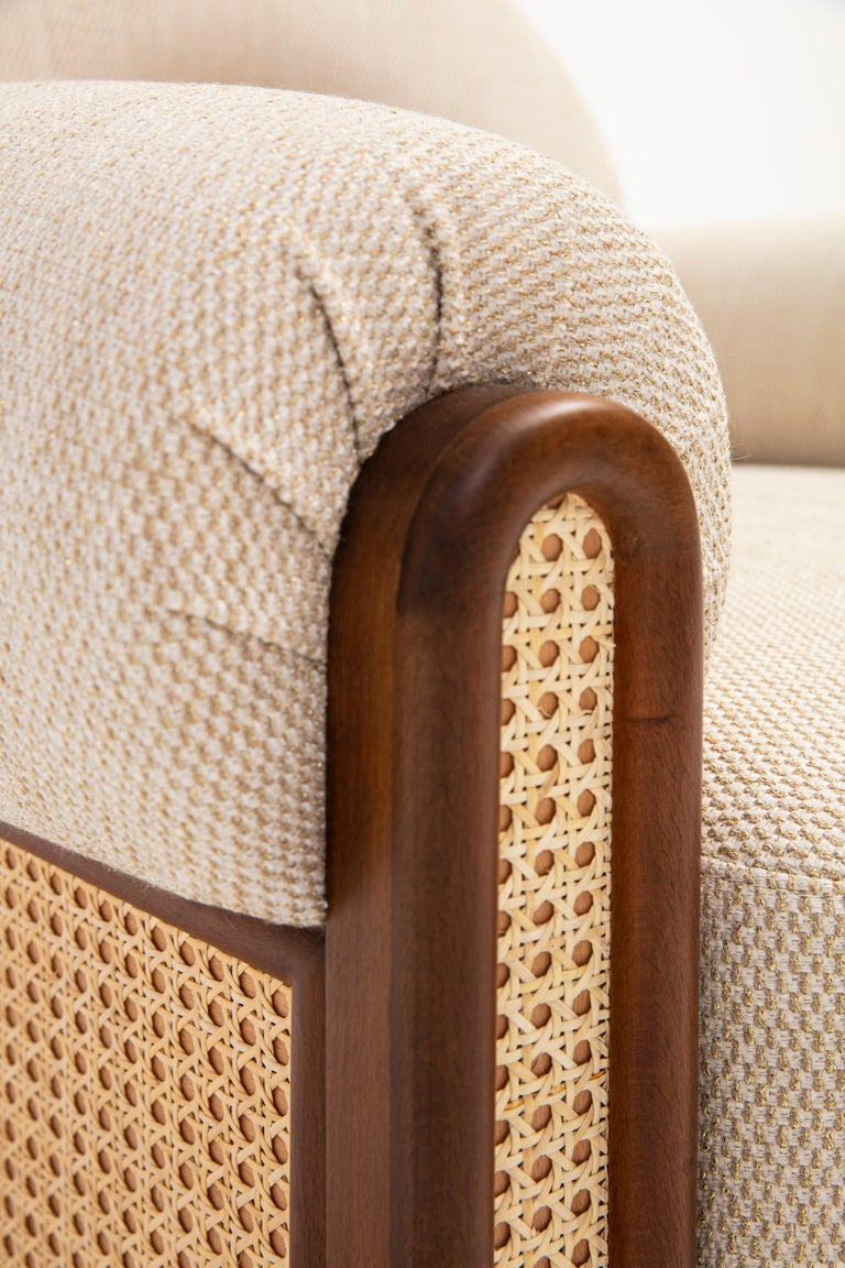 Cane N-Gene Armchair Beige For Sale