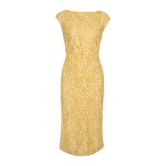 N21 Yellow Lace Sleeveless Midi Sheath Dress M