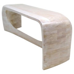 N2V Bench Hand Carved in Bleached Cherry