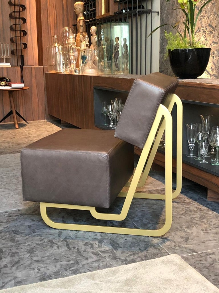Contemporary N4 Leather Armchair For Sale