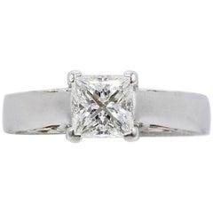 Na Hoku 1.01 CT H VS1 Princess Cut Diamond Engagement Ring 18K White Gold