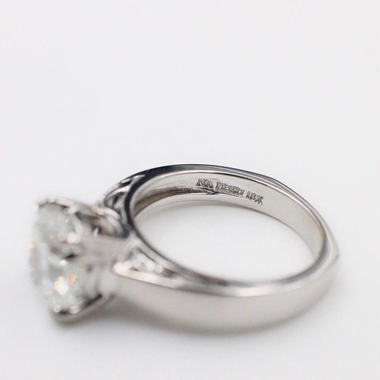 Na Hoku Cushion Cut Diamond Engagement Ring 1.97 Carat F VVS1 18 Karat Gold In Excellent Condition For Sale In San Diego, CA