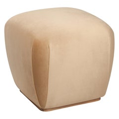 Na Pali Stool, Velvet and Walnut, InsidherLand by Joana Santos Barbosa