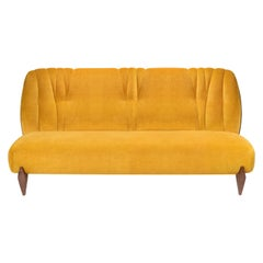 Na Pali Three-Seat Sofa, Velvet and Walnut, InsidherLand by Joana Santos Barbosa