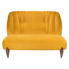 Na Pali Two-Seat Sofa, Velvet and Walnut, InsidherLand by Joana Santos Barbosa