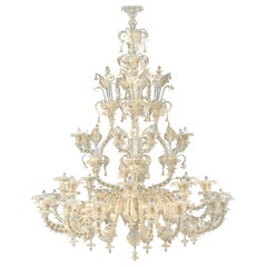 Artistic Chandelier 16+8+8 arms Crystal Murano Glass gold details by Multiforme