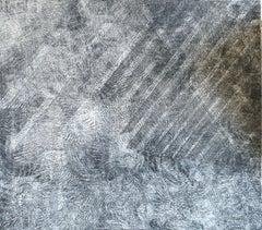 """Untitled,"" Nachume Miller, Israeli Artist, Grey Abstract Minimalism"