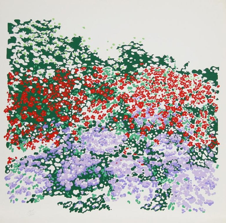 Flower Field 4 Nadine Prado, Mexican/French (1940) Date: 1979 Screenprint, Signed and numbered in Pencil Edition of 300 Size: 32 x 32 in. (81.28 x 81.28 cm)
