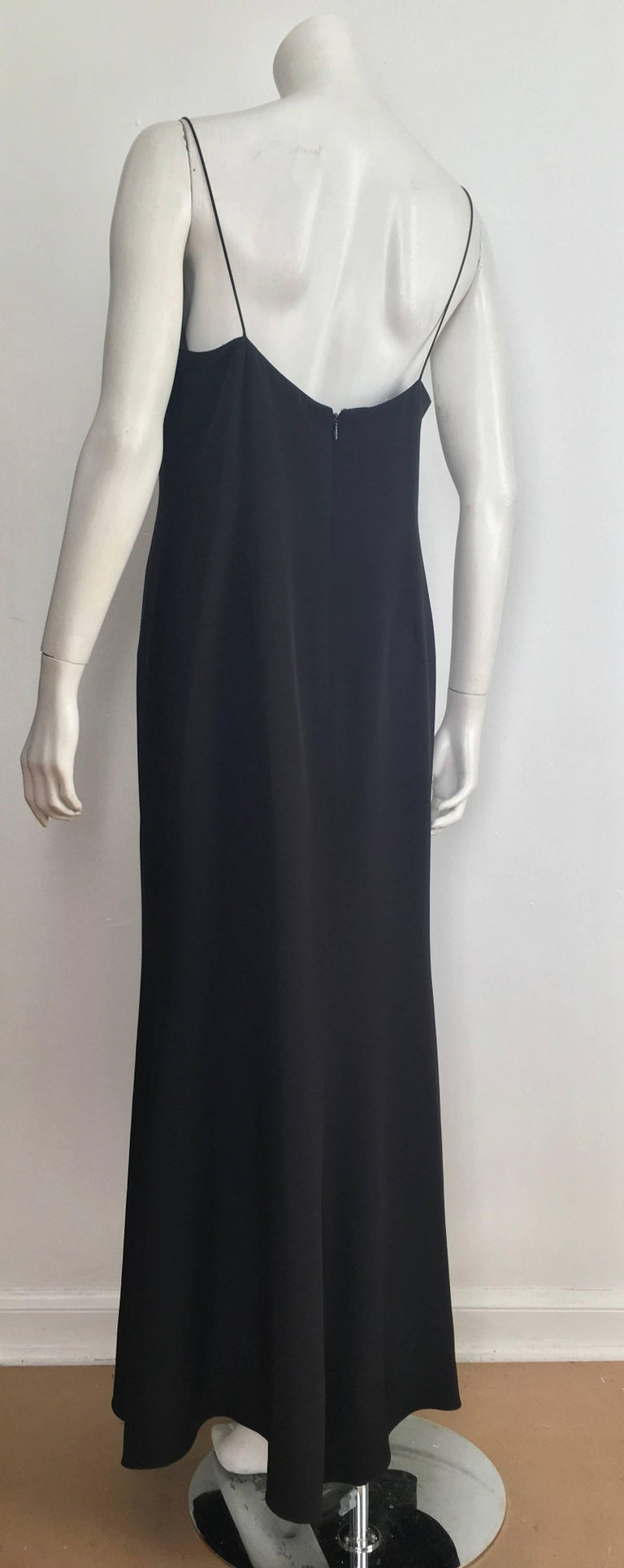 a9d98cc9a53 Women s or Men s Naeem Khan Black Silk Spaghetti Strap Evening Maxi Dress  Size 12. For