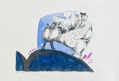 Israeli Surrealist Abstract Lithograph Naftali Bezem