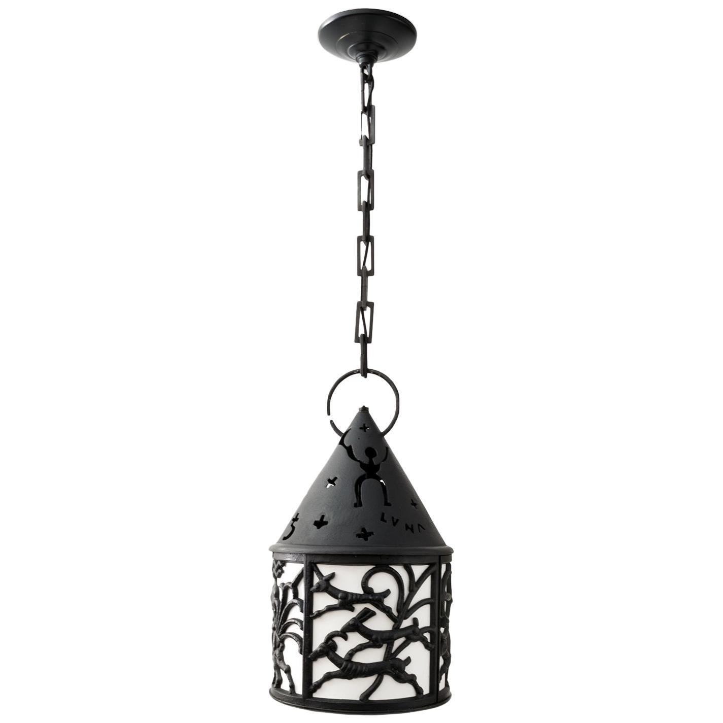 "Nafveqvarns Bruk ""Diana"" Lantern by C Elmberg, M Westerberg Swedish Art Deco"