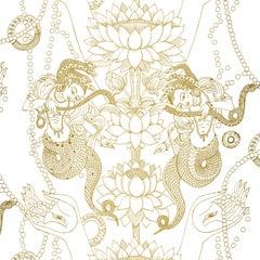 Naga Lotus Wallpaper on Smooth Paper