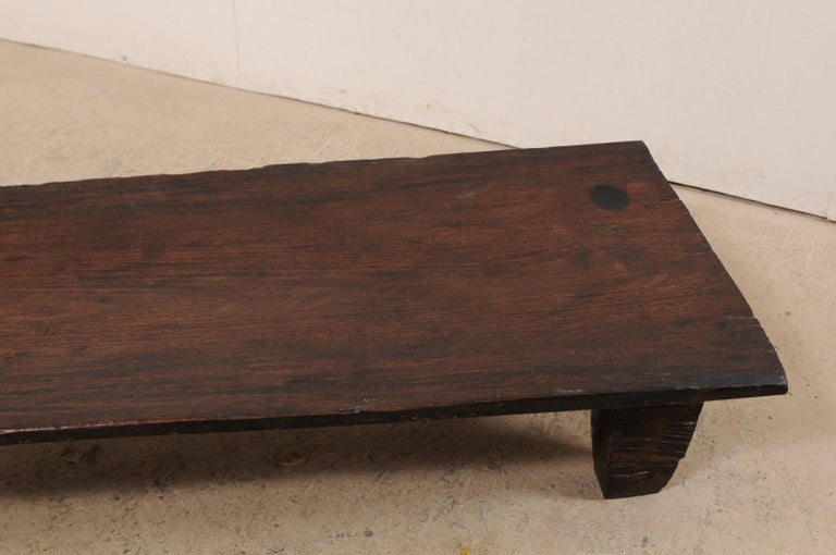 Naga Wood Coffee Table or Bench from the Early 20th Century For Sale 6