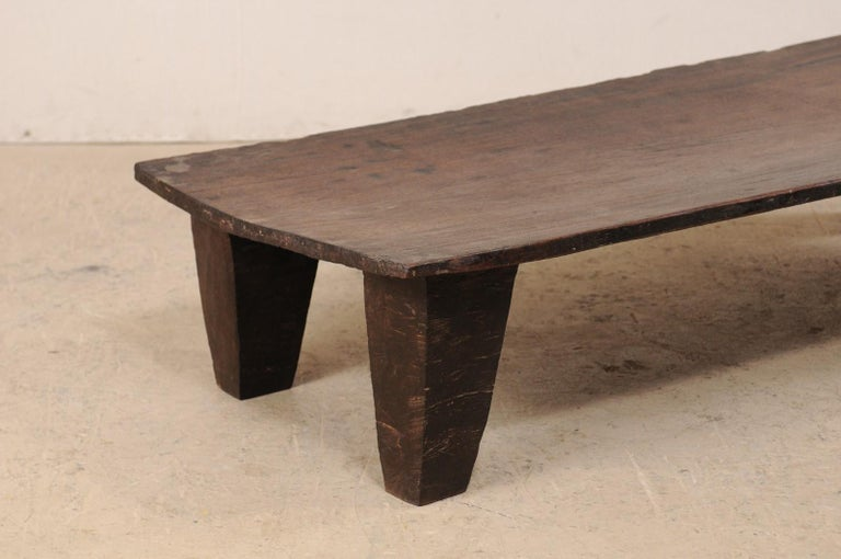 Rustic Naga Wood Coffee Table or Bench from the Early 20th Century For Sale