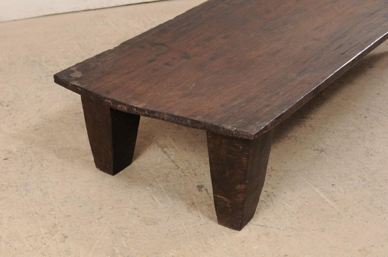 Indian Naga Wood Coffee Table or Bench from the Early 20th Century For Sale