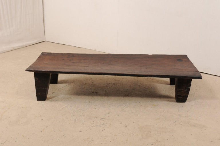 Hand-Crafted Naga Wood Coffee Table or Bench from the Early 20th Century For Sale