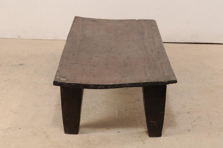 Naga Wood Coffee Table or Bench from the Early 20th Century In Good Condition For Sale In Atlanta, GA
