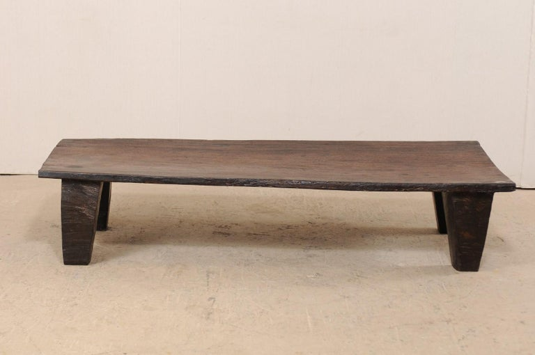 Naga Wood Coffee Table or Bench from the Early 20th Century For Sale 1