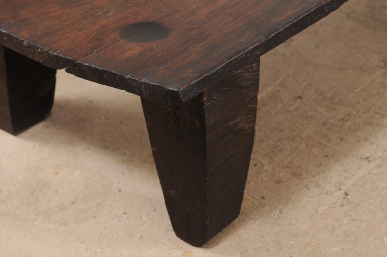 Naga Wood Coffee Table or Bench from the Early 20th Century For Sale 3