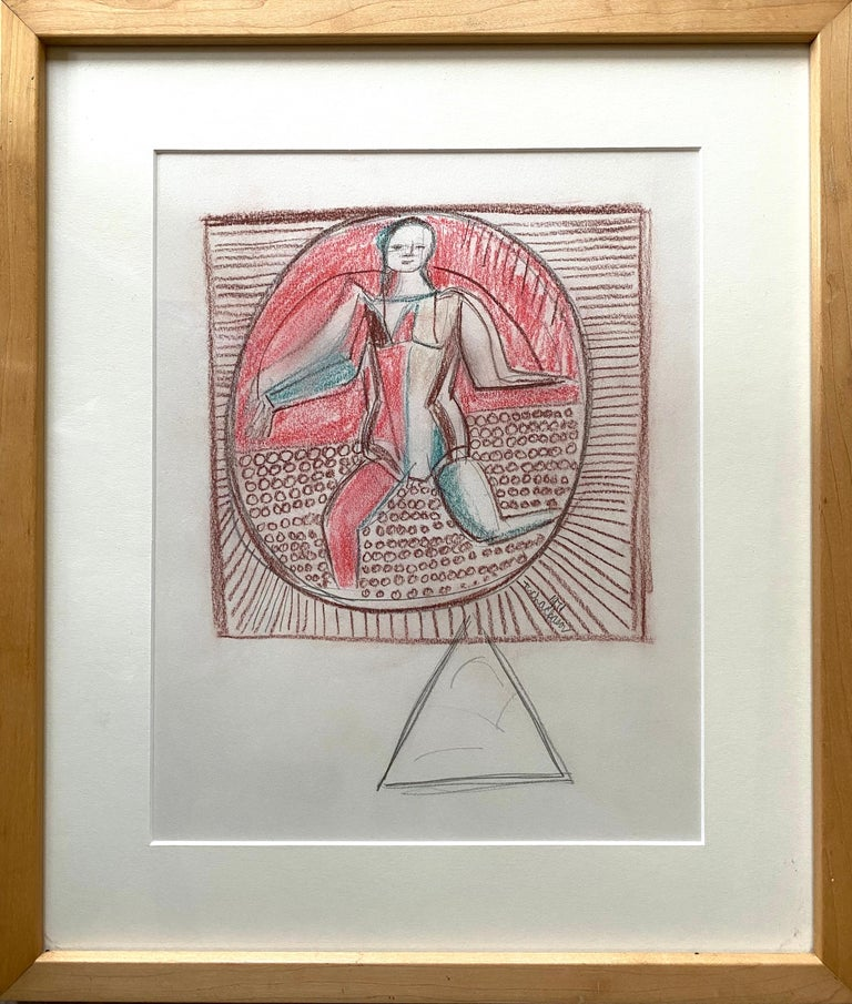Original oil pastel with underlying graphite drawing lines by the well known Russian/American artist Nahum Tschacbasov.  Signed and dated by the artist lower right, 1971. Condition is excellent. Provenance:  Estate of the artist, Nahum Tschacbasov.
