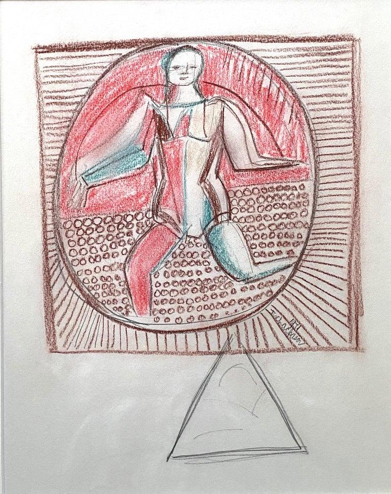 """Nahum Tschacbasov Nude Painting - """"Balancing Act"""""""