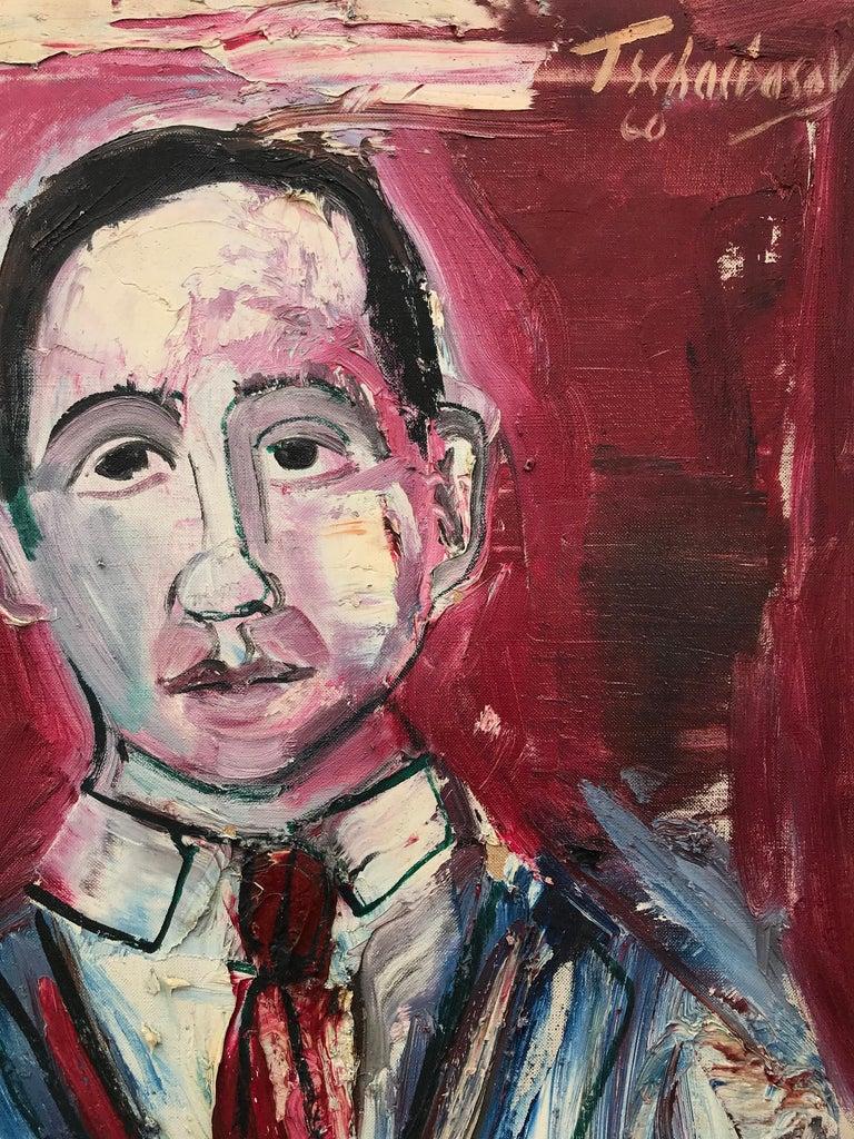 """Portrait of J. Bickel"" - Painting by Nahum Tschacbasov"