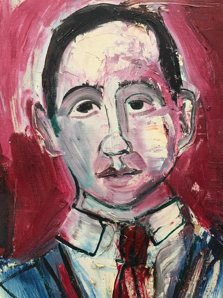 """Portrait of J. Bickel"" - Post-Modern Painting by Nahum Tschacbasov"
