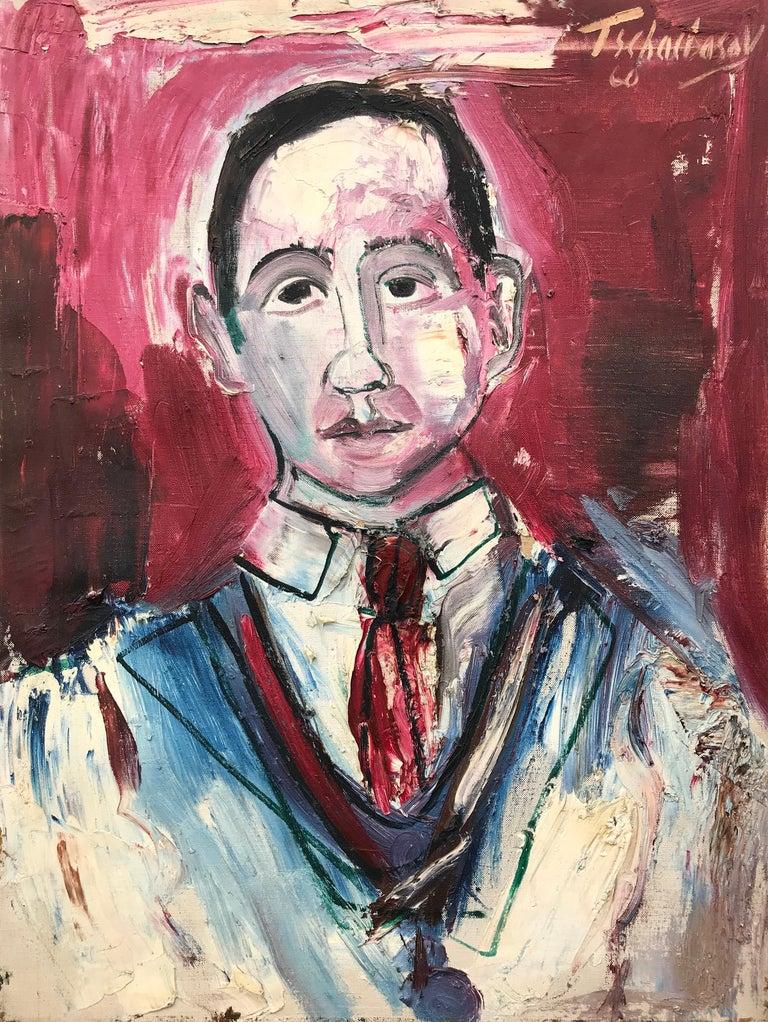 "Nahum Tschacbasov Portrait Painting - ""Portrait of J. Bickel"""