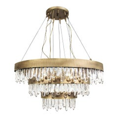 Naicca Chandelier in Aged Brushed Brass
