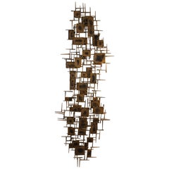 Nail and Brass Wall Sculpture