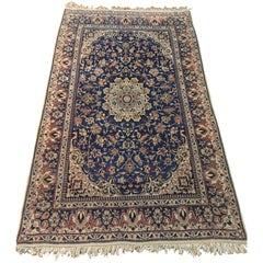 Nain Carpet Cork Wool with Silk Very Fine Knotted