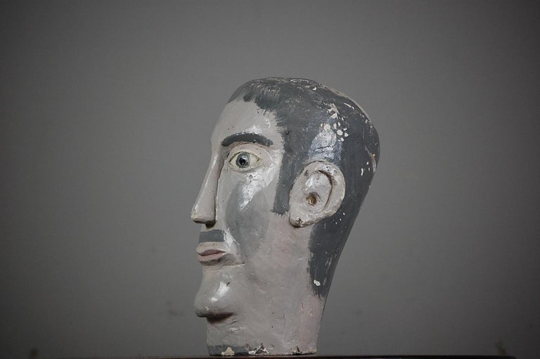 French Naive 20th Century Mannequin Head For Sale