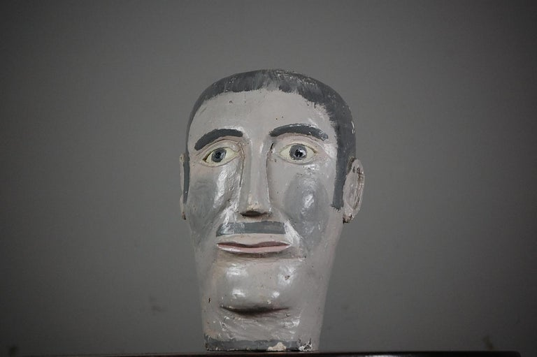 Naive 20th Century Mannequin Head In Fair Condition For Sale In Pease pottage, West Sussex