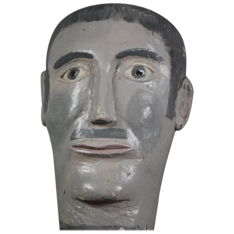 Naive 20th Century Mannequin Head For Sale