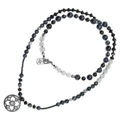Najima Pavé Diamond Tiger's Eye Silver Necklace