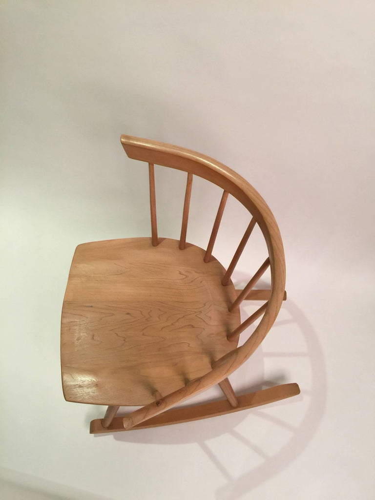 Miraculous Nakashima Attributed Ercol For Knoll Strait Rocking Chair Onthecornerstone Fun Painted Chair Ideas Images Onthecornerstoneorg
