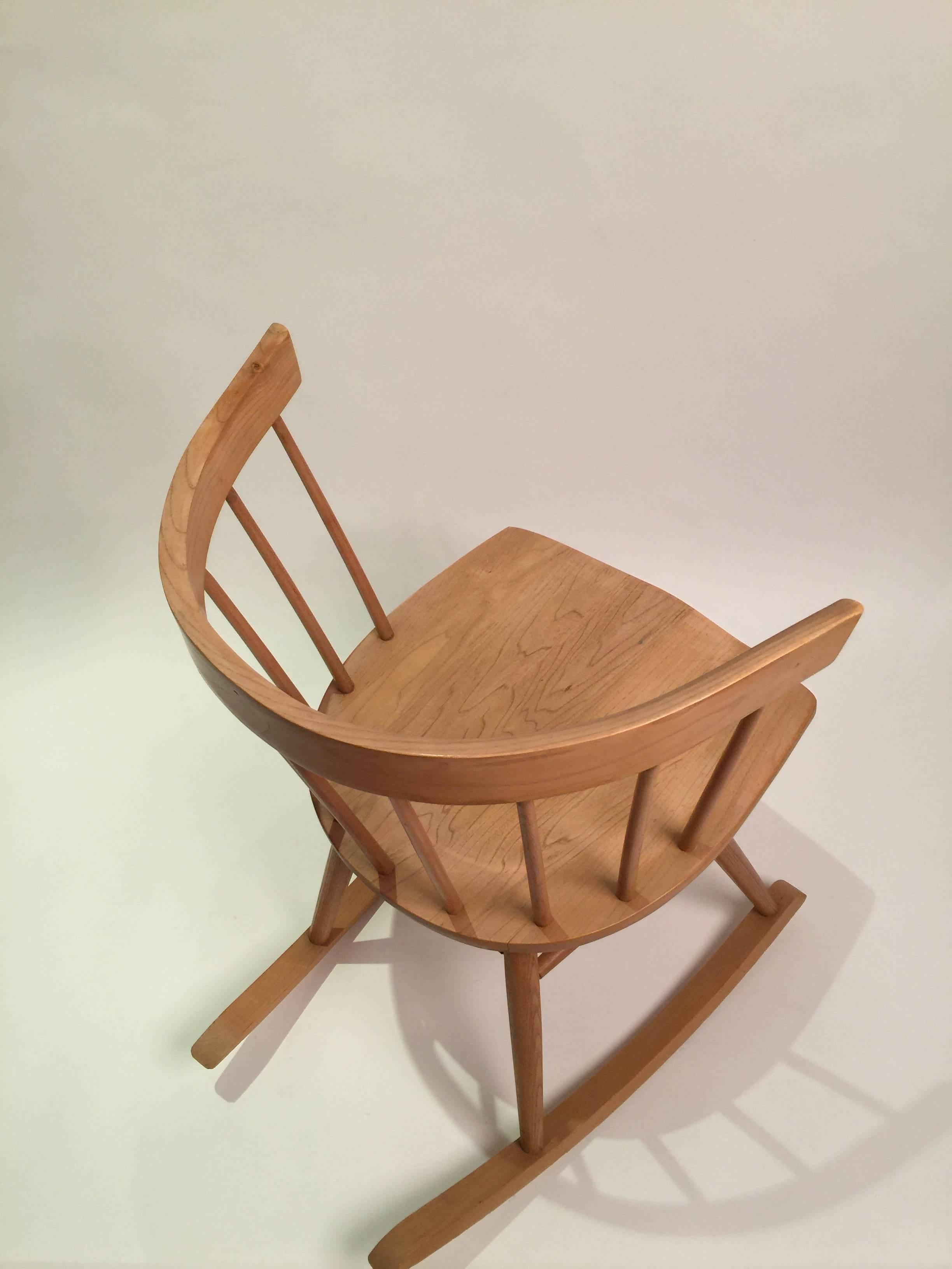Wondrous Nakashima Attributed Ercol For Knoll Strait Rocking Chair Andrewgaddart Wooden Chair Designs For Living Room Andrewgaddartcom