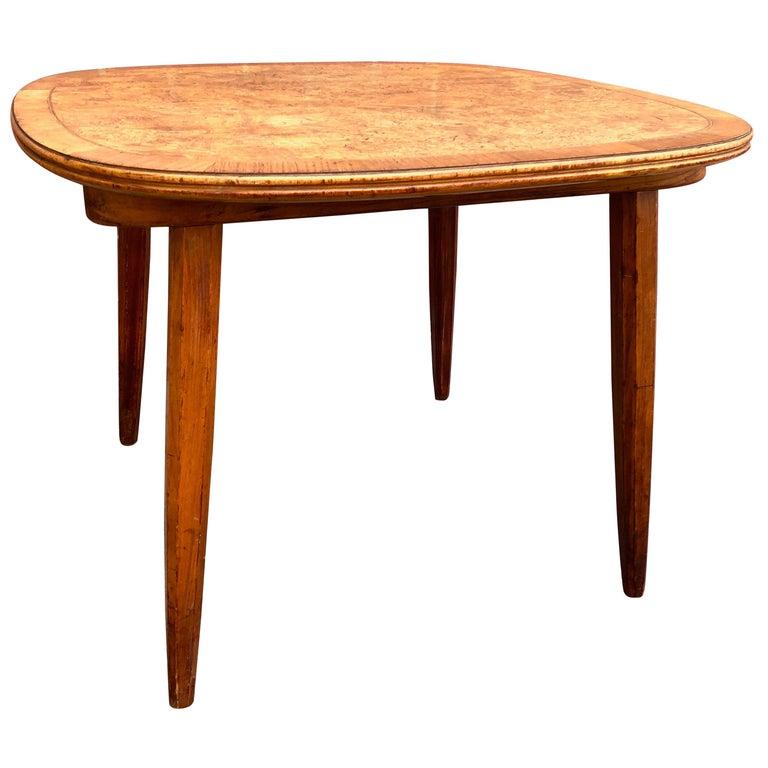 Nakashima Widdicomb Style Walnut and Burl Table For Sale