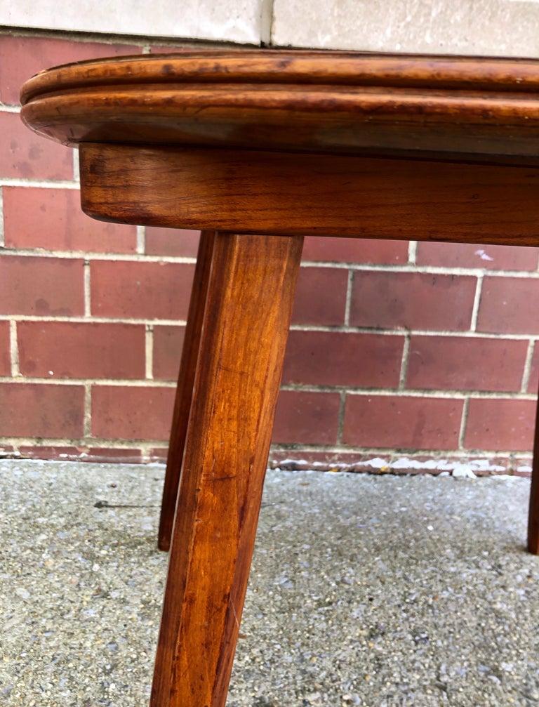 American Nakashima Widdicomb Style Walnut and Burl Table For Sale