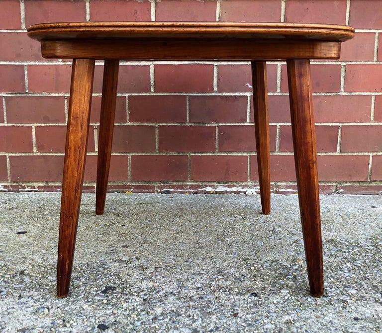 Nakashima Widdicomb Style Walnut and Burl Table In Good Condition For Sale In Hudson, NY